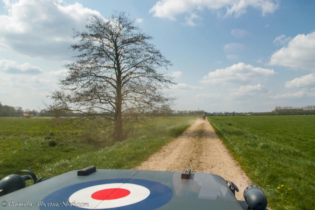 Commemoration Operation Cannonshot 2019 - Commemoration Operation Cannonshot and Memorial Tour 2019: Driving on the dusty sand roads of the Achterhoek region in the...