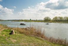 Commemoration Operation Cannonshot 2019 - Commemoration Operation Cannonshot 2019: A DUKW and a Ford GPA Jeep on the river IJssel, passing the IJssel Crossing Memorial. The...