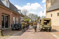 Commemoration Operation Cannonshot 2019 - Commemoration Operation Cannonshot 2019: The Highland Regiment Pipes and Drums Band marching along the Kerkstraat (Church Road) in...