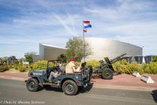75th anniversary of D-Day - Classic Car Road Trip Normandy, 75 years after D-Day: A 1942 Ford GPW Jeep in front of the Juno Beach Centre in Courseulles-sur-Mer. The Juno...