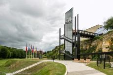 75th anniversary of D-Day - Classic Car Road Trip Normandy, 75 years after D-Day: The Memorial de Caen was built over a German bunker complex. In 1944, the bunker...