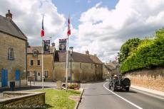 75th anniversary of D-Day - Classic Car Road Trip Normandy, 75 years after D-Day: Driving our own WWII Ford Jeep through the streets of a small village in Normandy....