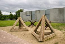 75th anniversary of D-Day - Classic Car Road Trip Normandy, 75 years after D-Day: The Overlord Museum at Colleville-sur-Mer. The museum is situated nearby Omaha Beach. The...