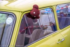 IMM 2019 Bristol - Classic Car Road Trip, IMM 2019 Bristol: The Mini of Mr. Bean and his teddy bear at the IMM in Bristol. Three Minis were used in...
