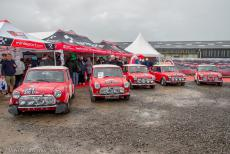 IMM 2019 Bristol - Classic Car Road Trip, IMM 2019 Bristol: The exact replicas of the five classic Mini Coopers which have participated in the Monte Carlo Rally...