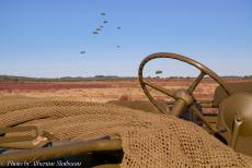 75 years after the Battle of Arnhem - Classic Car Road Trip: A 1942 British Airborne Ford GPW Jeep on Ginkel Heath during the mass parachute drop to commemorate the 75th...