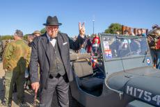75 years after the Battle of Arnhem - Classic Car Road Trip: The 75th commemorations Battle of Arnhem on Ginkel Heath, a Churchill reenactor next to our own 1942...