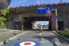 75 years after the Battle of Arnhem - Classic Car Road Trip: Race to the Bridge 2019, a Ford GPW Jeep at the Rhine Bridge in Arnhem. During the Battle of Arnhem, the north end of the...
