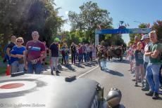 75 years after the Battle of Arnhem - Classic Car Road Trip: Race to the Bridge 2019, driving in a Ford GPW Jeep through Oosterbeek towards the Airborne Museum Hartenstein. The...
