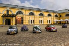Lithuania 2015 - Classic Car Road Trip: Classic Minis in front of the Daugavpils Mark Rothko Art Centre in Latvia. The famous painter Mark Rothko was born in...