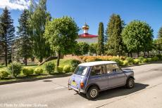 Lithuania 2015 - A Classic Car Road Trip in an original 1974 Mini Authi: The Alexander Nevsky Orthodox Church at Krāslava in Latvia. Krāslava is a small...