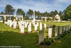 Normandy 2014 - Classic Car Road Trip Normandy: Ryes War Cemetery at Bazenville. Bazenville is a small village about 8 km northeast of Bayeux and close to...