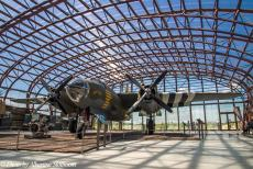 Normandy 2014 - Classic Car Road Trip Normandy: A Martin B-26 Marauder, an American bomber aircraft used by Allied forces during WWII, on display at the Utah...