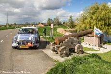 Stuyvesant Tour - Stuyvesant Mini Tour 2017: Our Mini Authi on the dyke road at the village of Blankenham in Overijssel, the Netherlands....